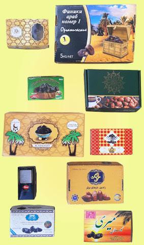 جعبه و کارتن خرما